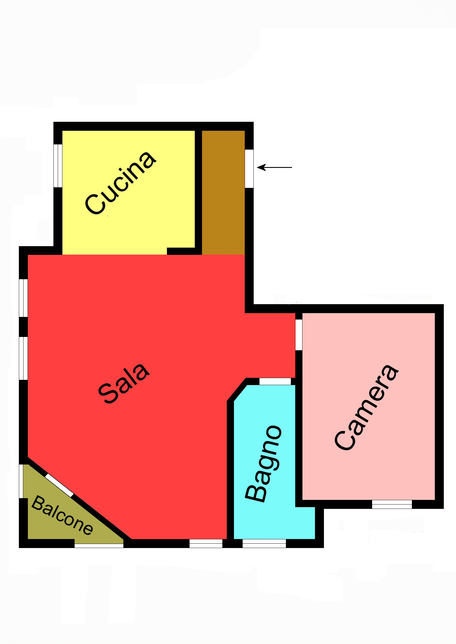 Planimetria 2/2 per rif. G135