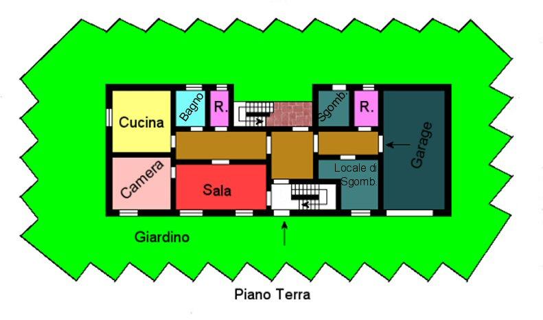 Planimetria 1/2 per rif. M580