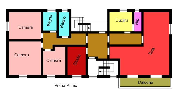 Planimetria 2/2 per rif. M580