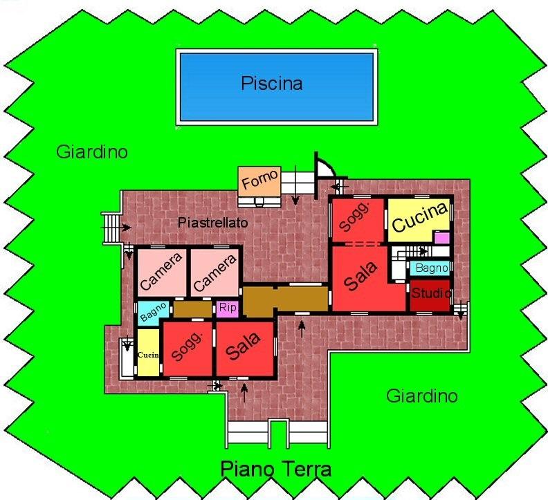 Planimetria 1/2 per rif. F900