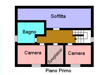 Planimetria 2/2 per rif. F900