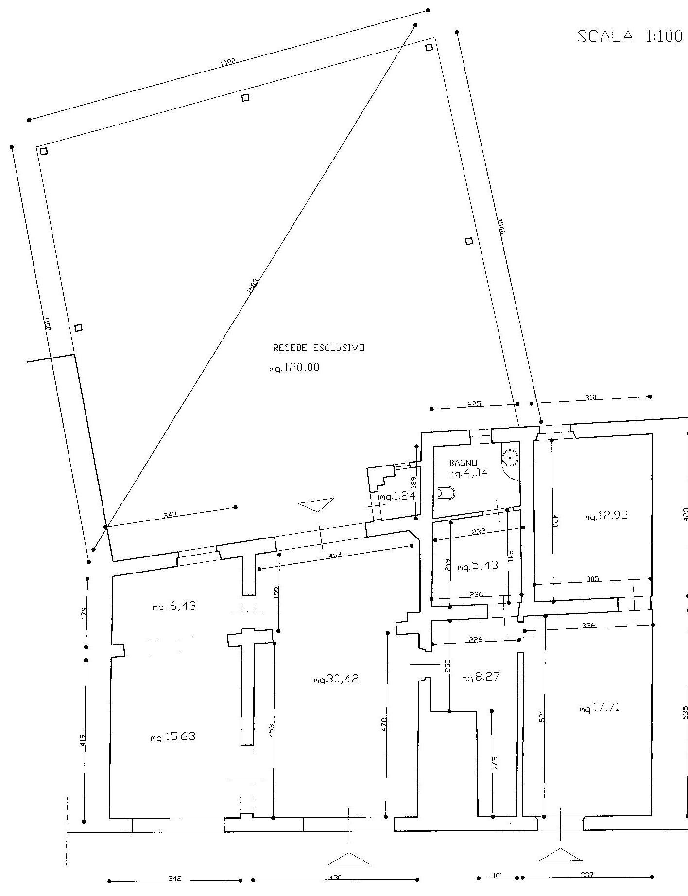Planimetria 1/1 per rif. AF160