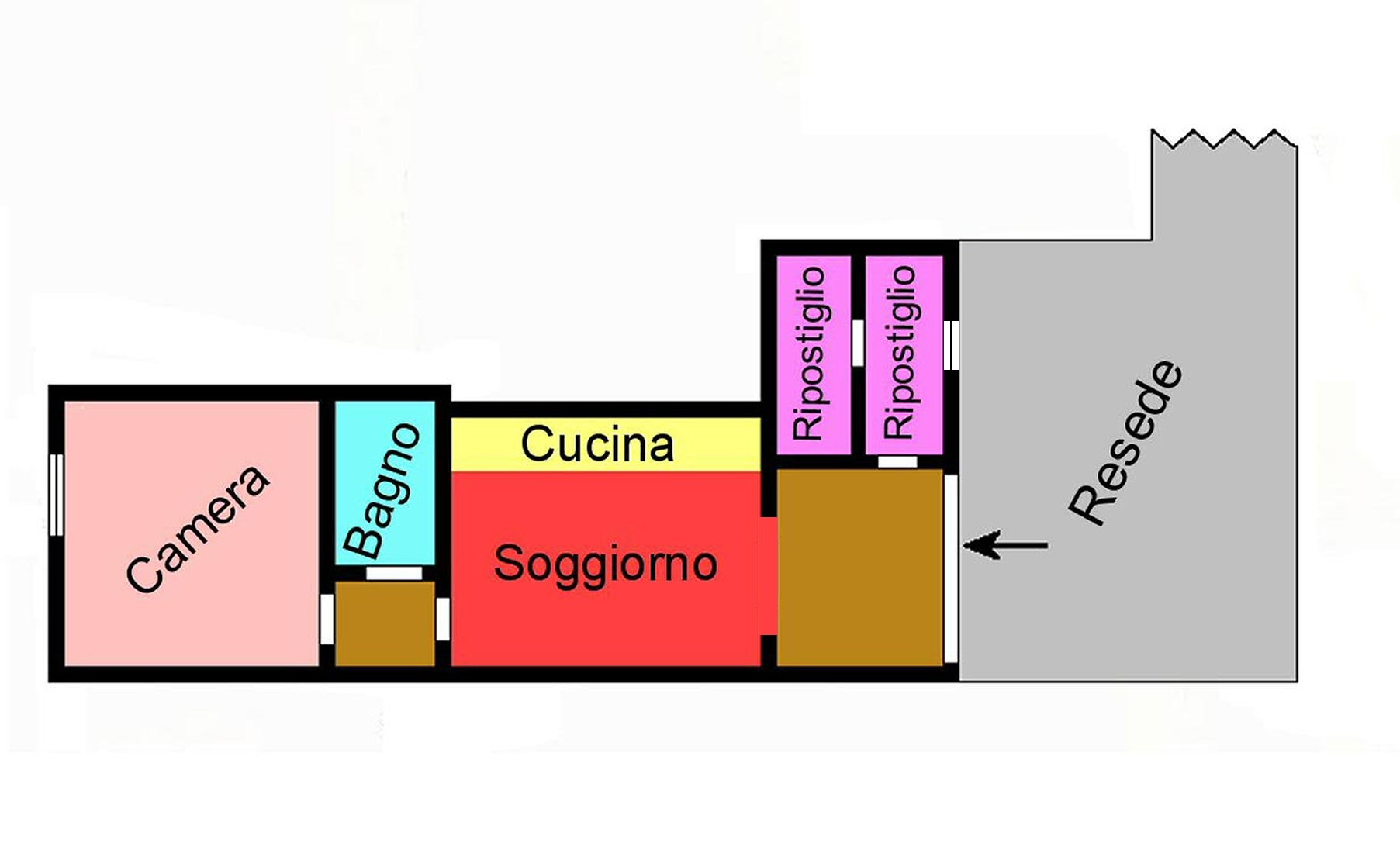 Planimetria 1/1 per rif. G118