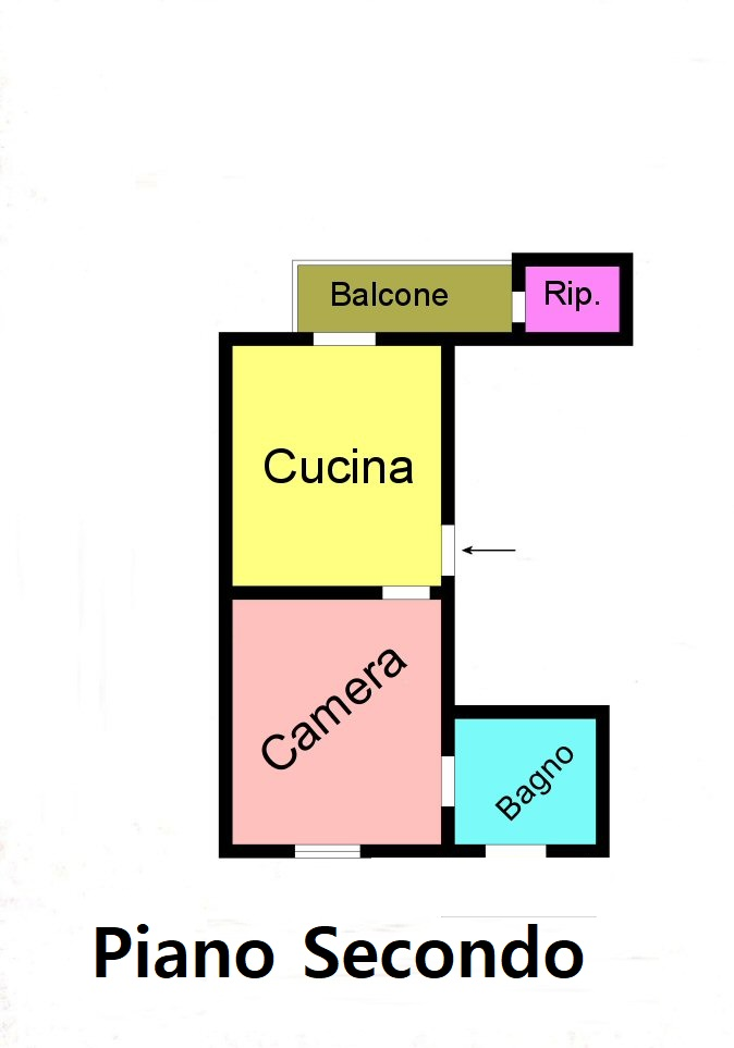 Planimetria 1/2 per rif. F125