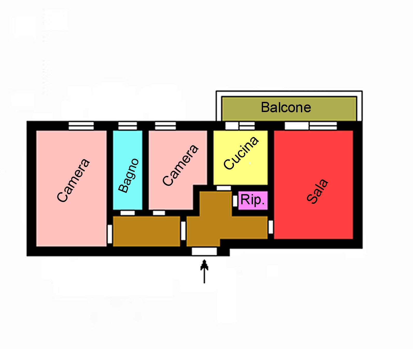 Planimetria 1/1 per rif. M155