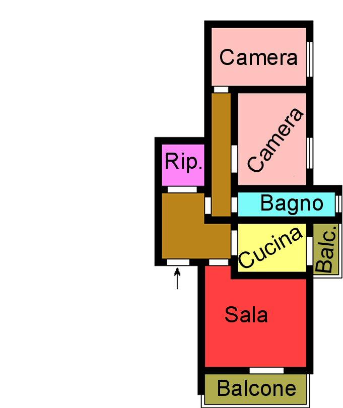 Planimetria 1/1 per rif. L231