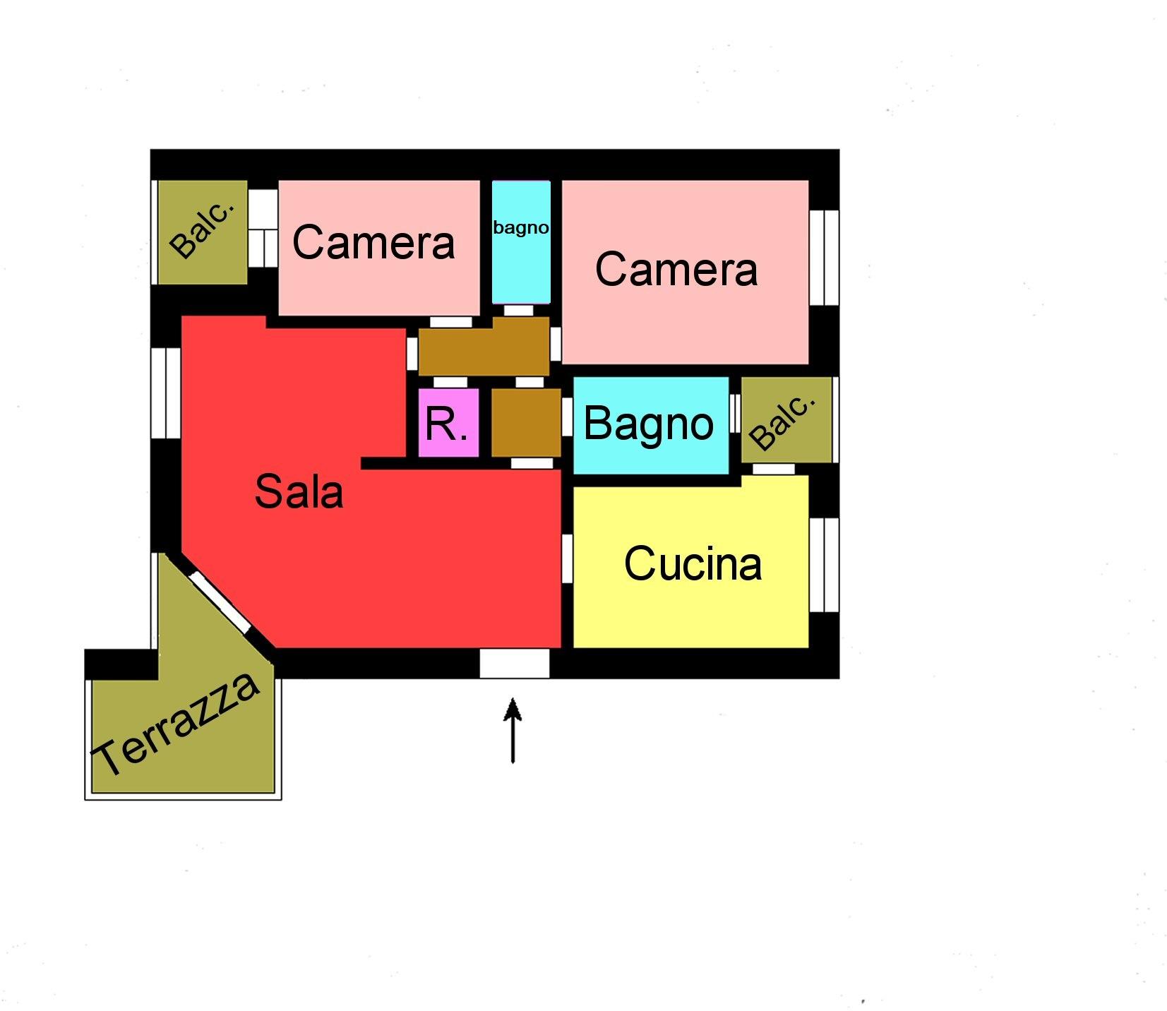 Planimetria 1/1 per rif. M160