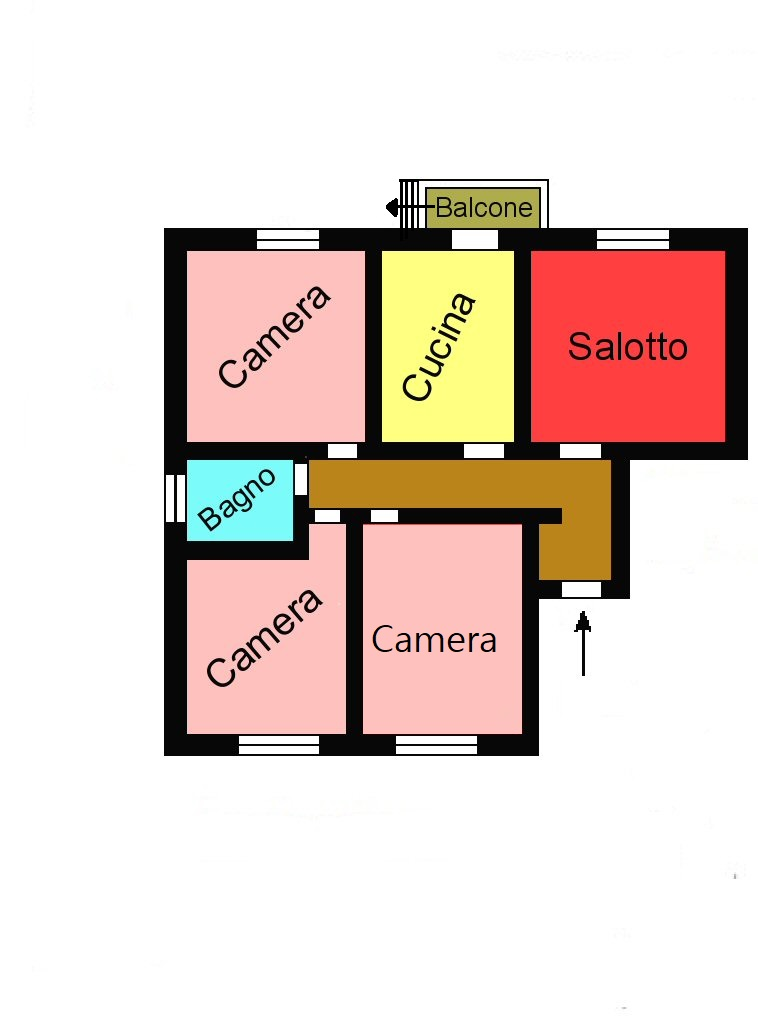 Planimetria 1/1 per rif. L232