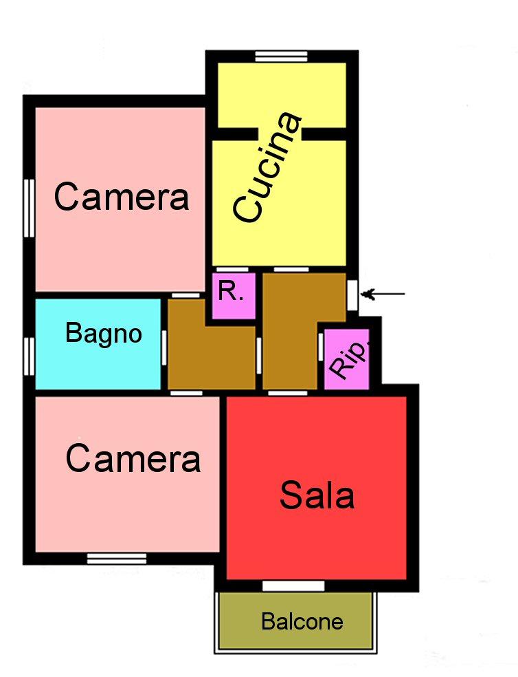 Planimetria 1/1 per rif. G160