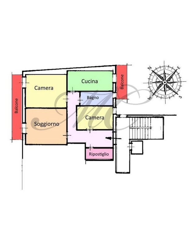 Planimetria 1/1 per rif. S101