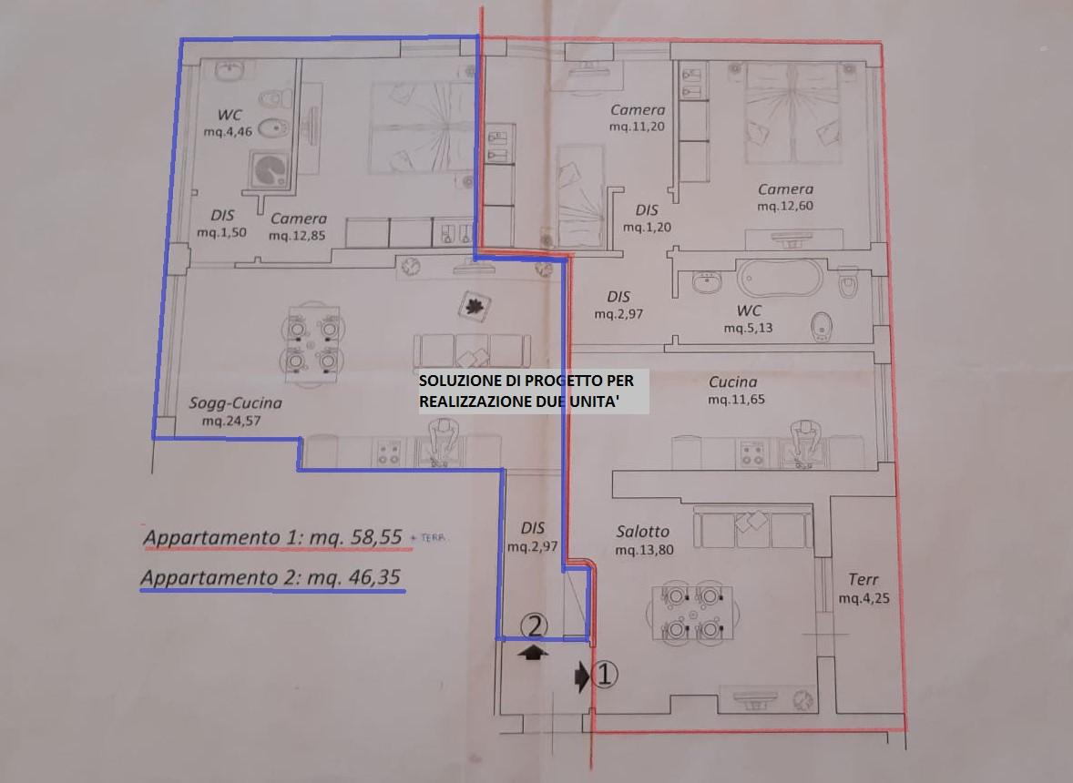 Planimetria 2/2 per rif. 45.25