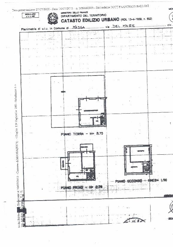 Planimetria 1/1 per rif. VV3