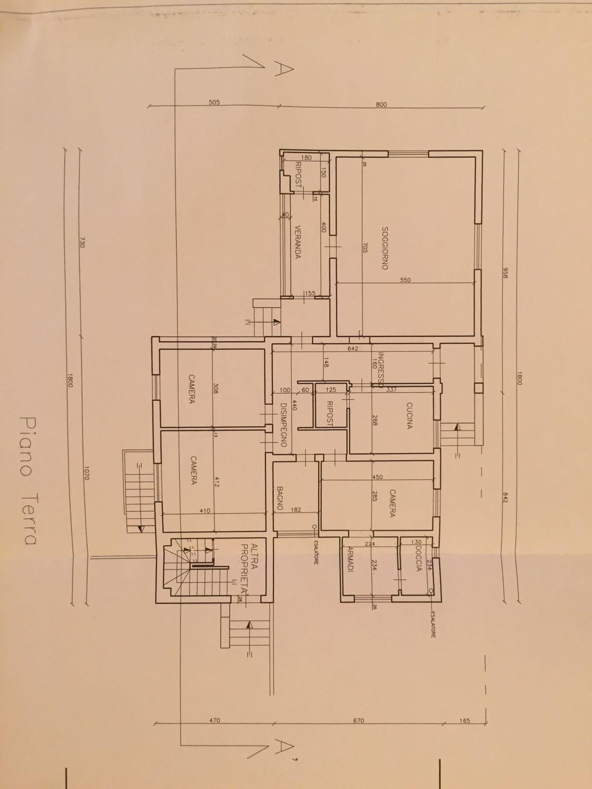 Planimetria 1/1 per rif. VR49