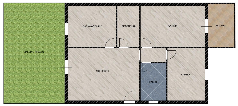 Planimetria 1/1 per rif. CIV36