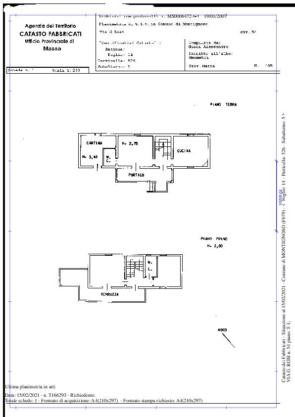 Planimetria 1/1 per rif. MAT01