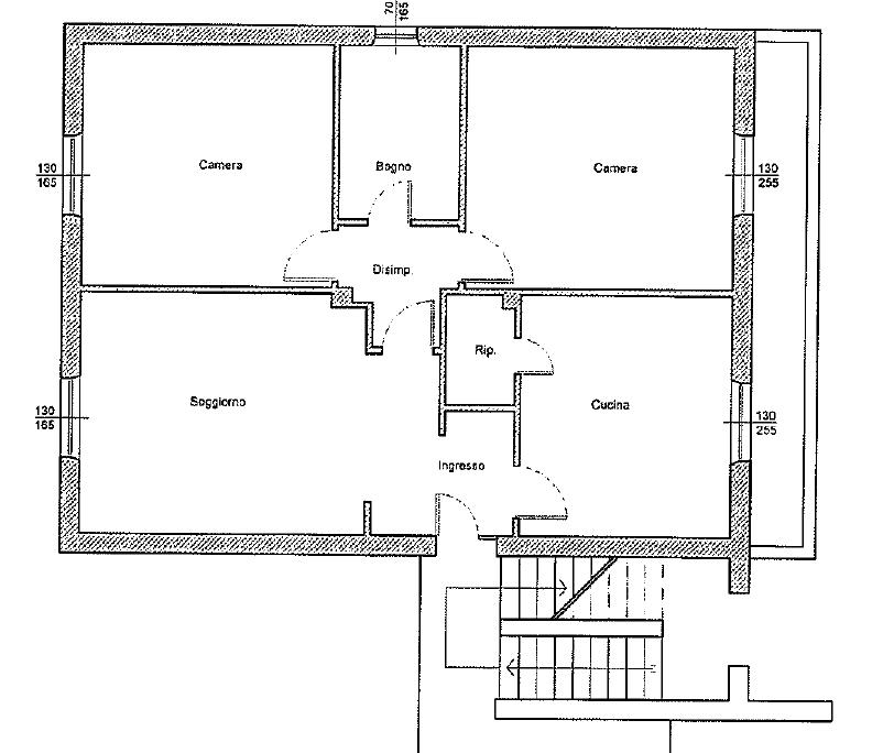 Appartamento in vendita, rif. 345 (Planimetria 1/1)