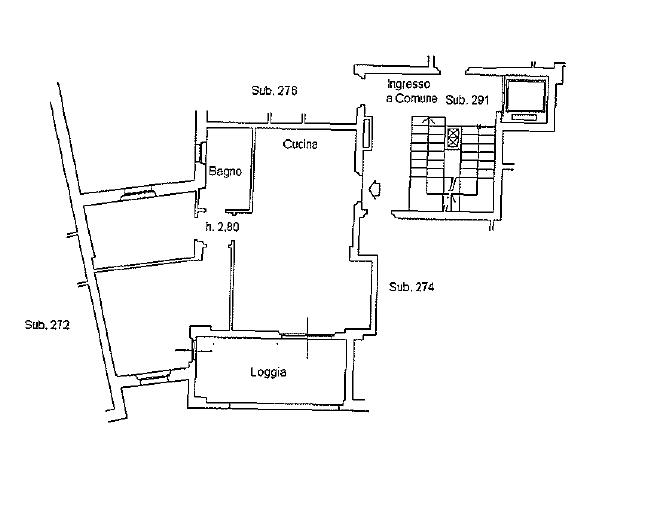 Appartamento in vendita, rif. 137FU (Planimetria 1/2)