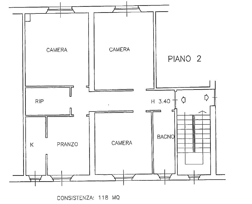 Appartamento in vendita, rif. 149 (Planimetria 1/1)