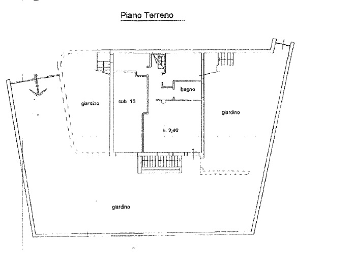 Terratetto in vendita, rif. 342 (Planimetria 1/5)