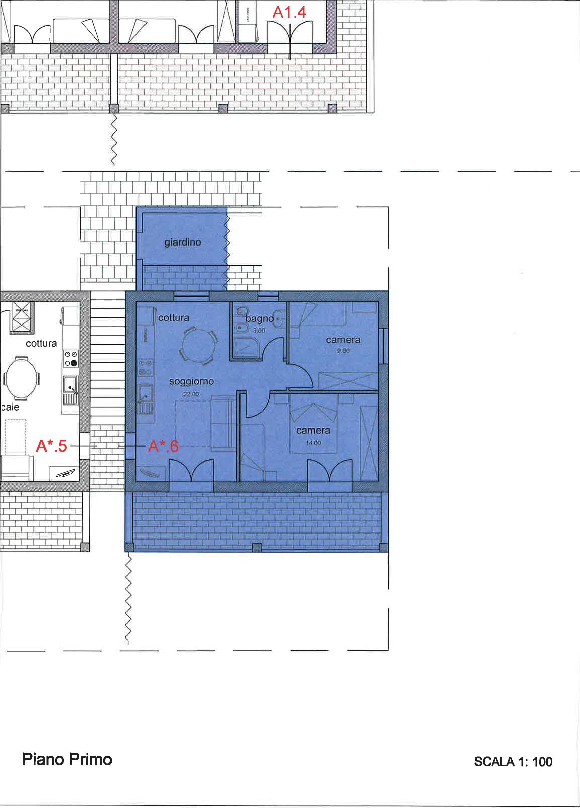 Appartamento in vendita, rif. 259 trilocale (Planimetria 1/1)