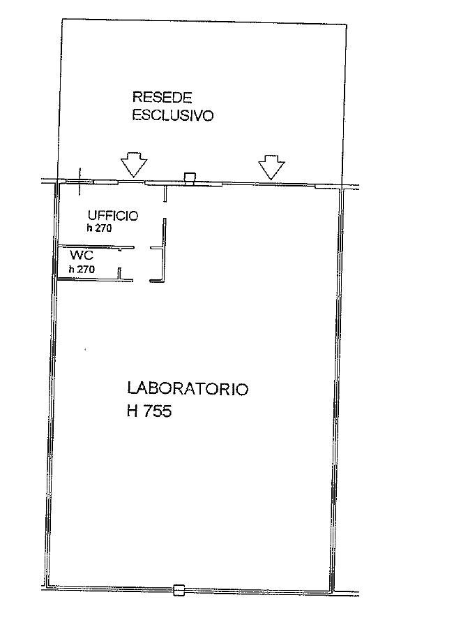 Capannone artigianale in vendita, rif. 136FU (Planimetria 1/1)
