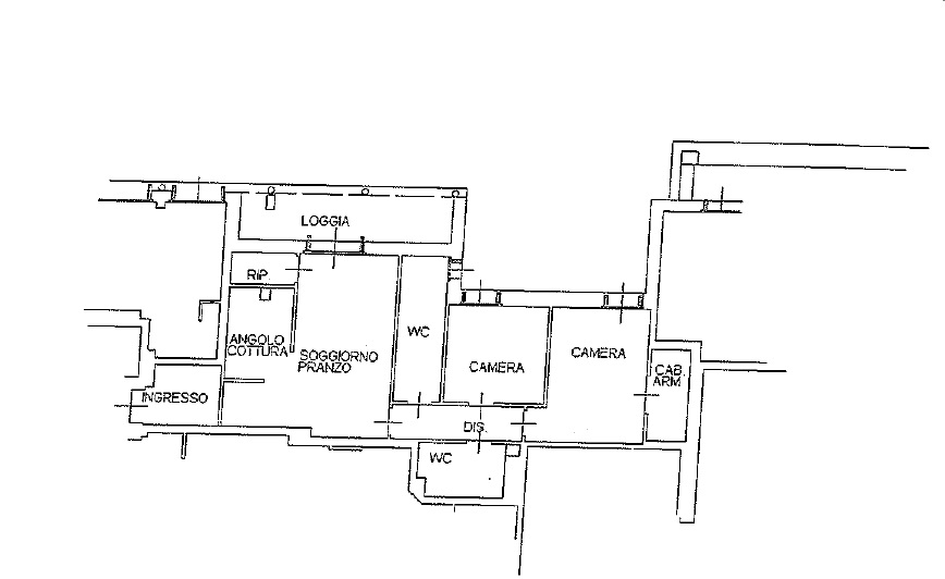 Appartamento in vendita, rif. 217 (Planimetria 1/2)