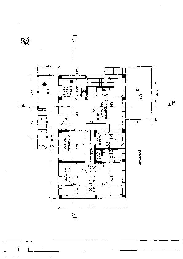 Planimetria 1/2 per rif. 4147