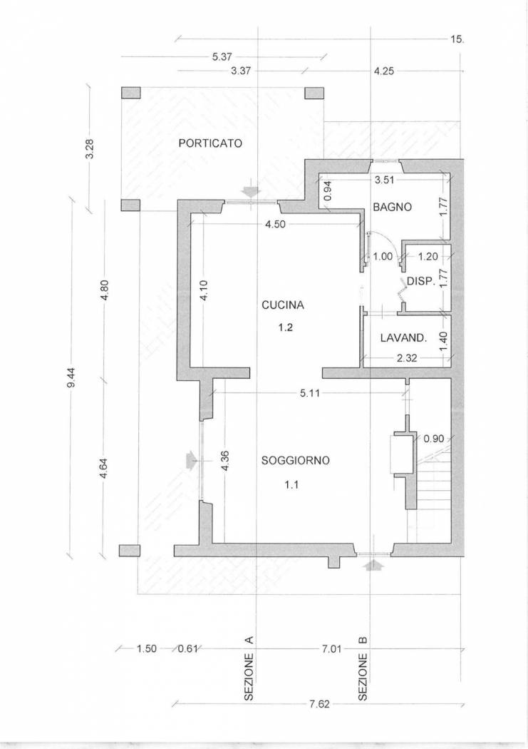 Planimetria 1/2 per rif. 4148
