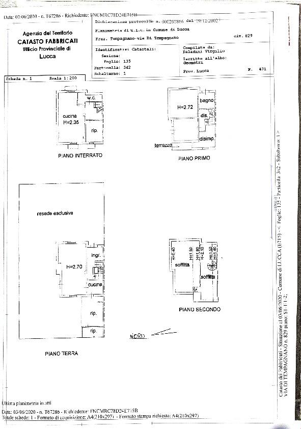 Planimetria 1/1 per rif. 4196