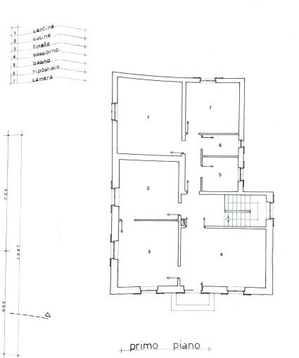 Planimetria 3/4 per rif. 4222