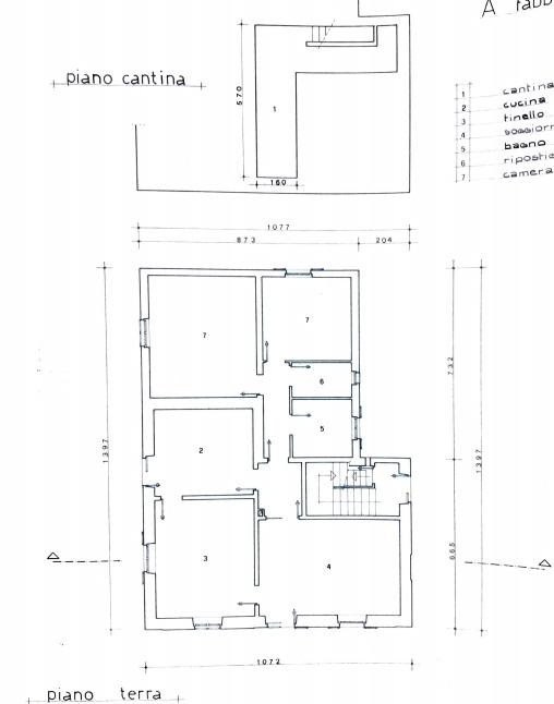 Planimetria 2/4 per rif. 4222