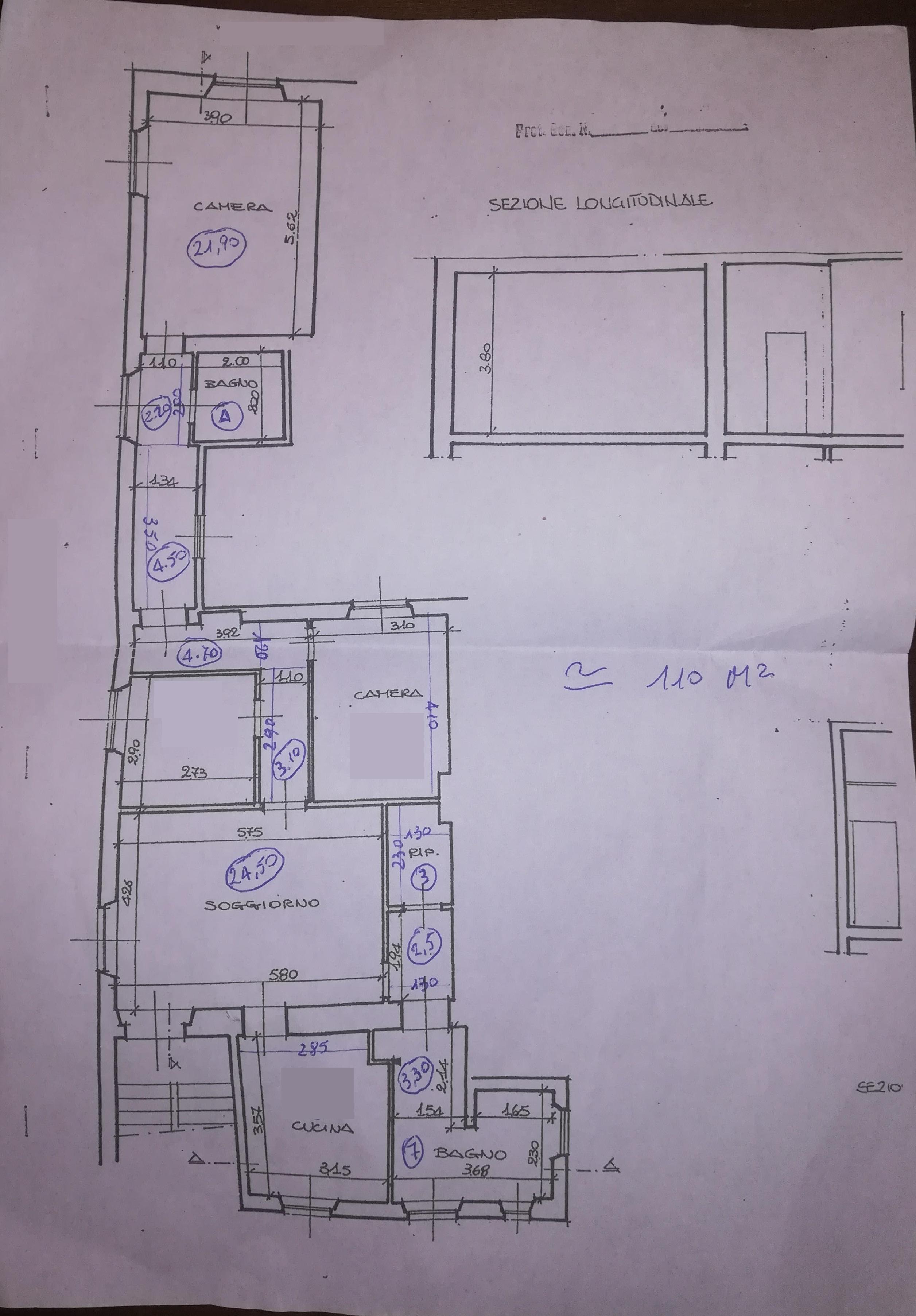 Planimetria 1/1 per rif. 4421