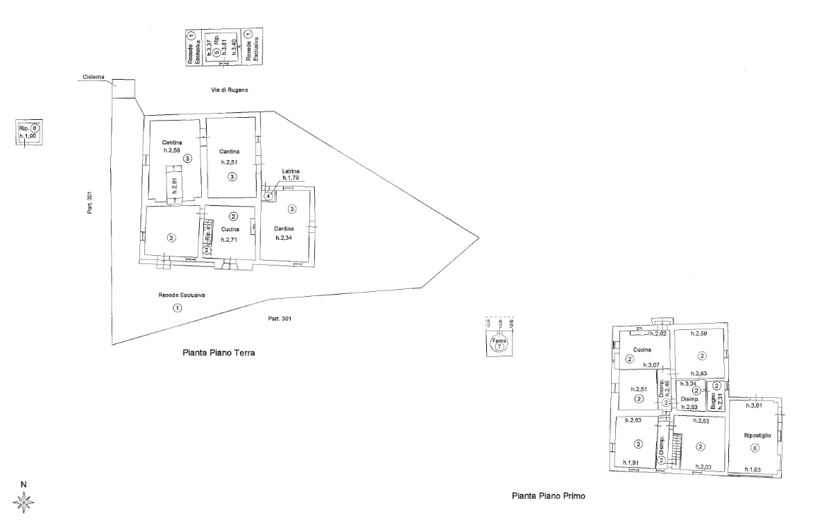 Planimetria 1/1 per rif. 4432