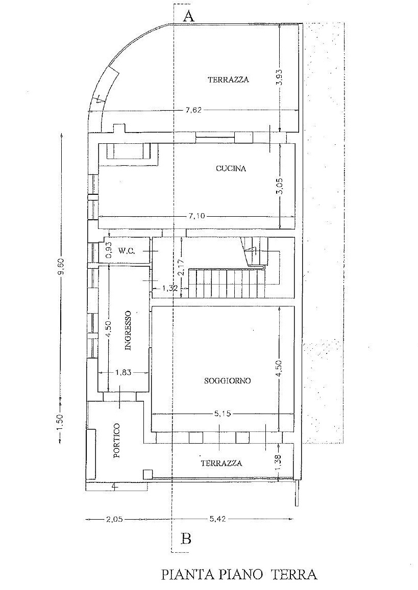 Planimetria 1/2 per rif. 4458
