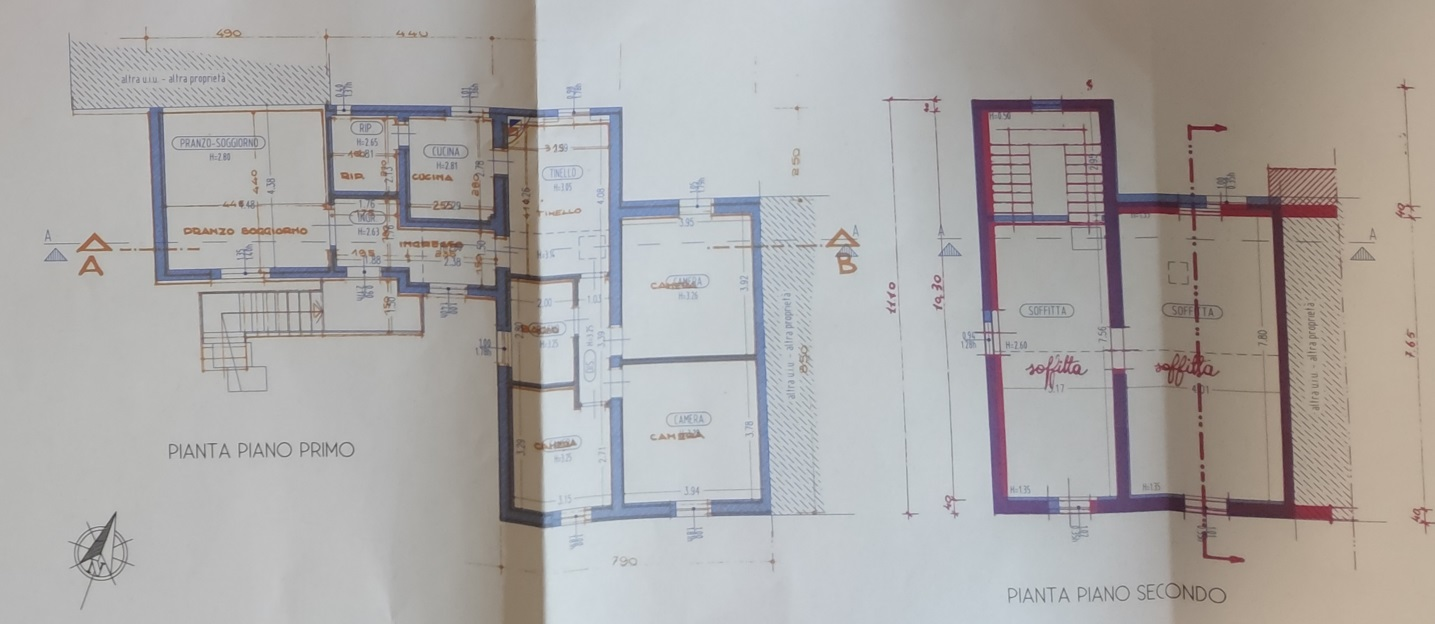 Planimetria 1/2 per rif. 4464