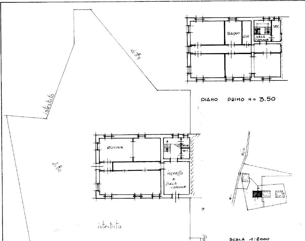 Planimetria 1/2 per rif. 4475