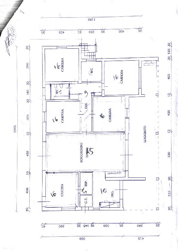 Planimetria 1/1 per rif. 2pt/393