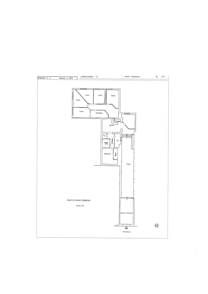Planimetria 1/1 per rif. 2pt/157