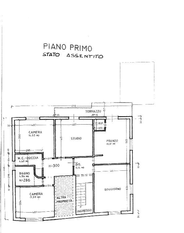 Planimetria 1/1 per rif. 2pt/164