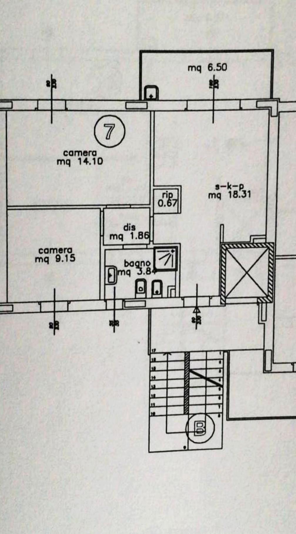 Planimetria 1/1 per rif. 2pt/166