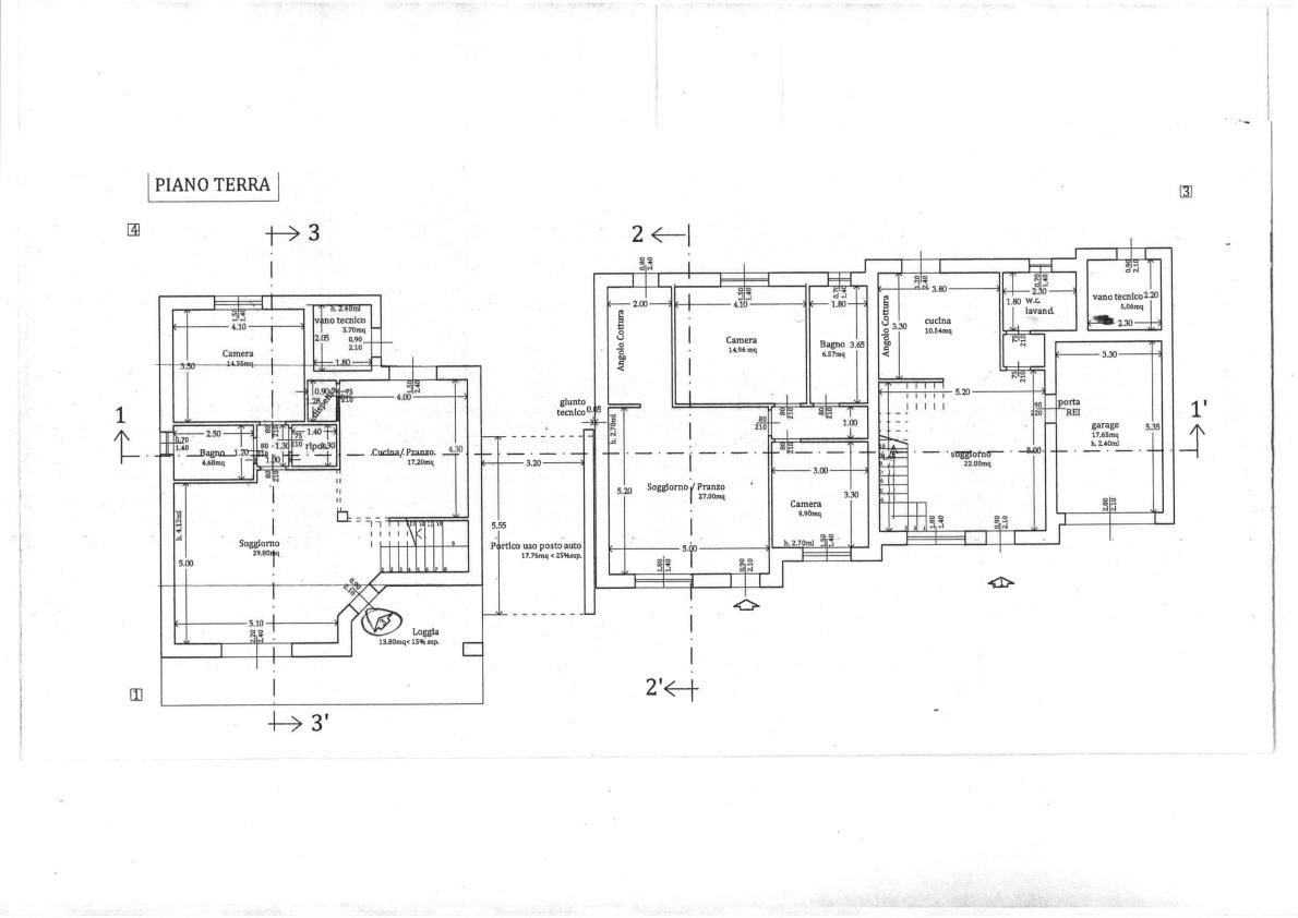 Planimetria 1/3 per rif. 2pt/174