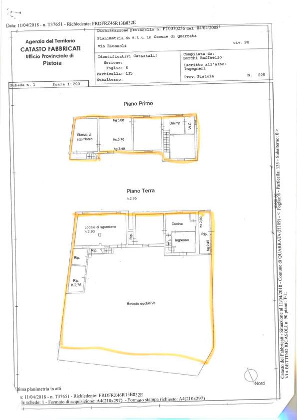 Planimetria 1/1 per rif. 2pt/175
