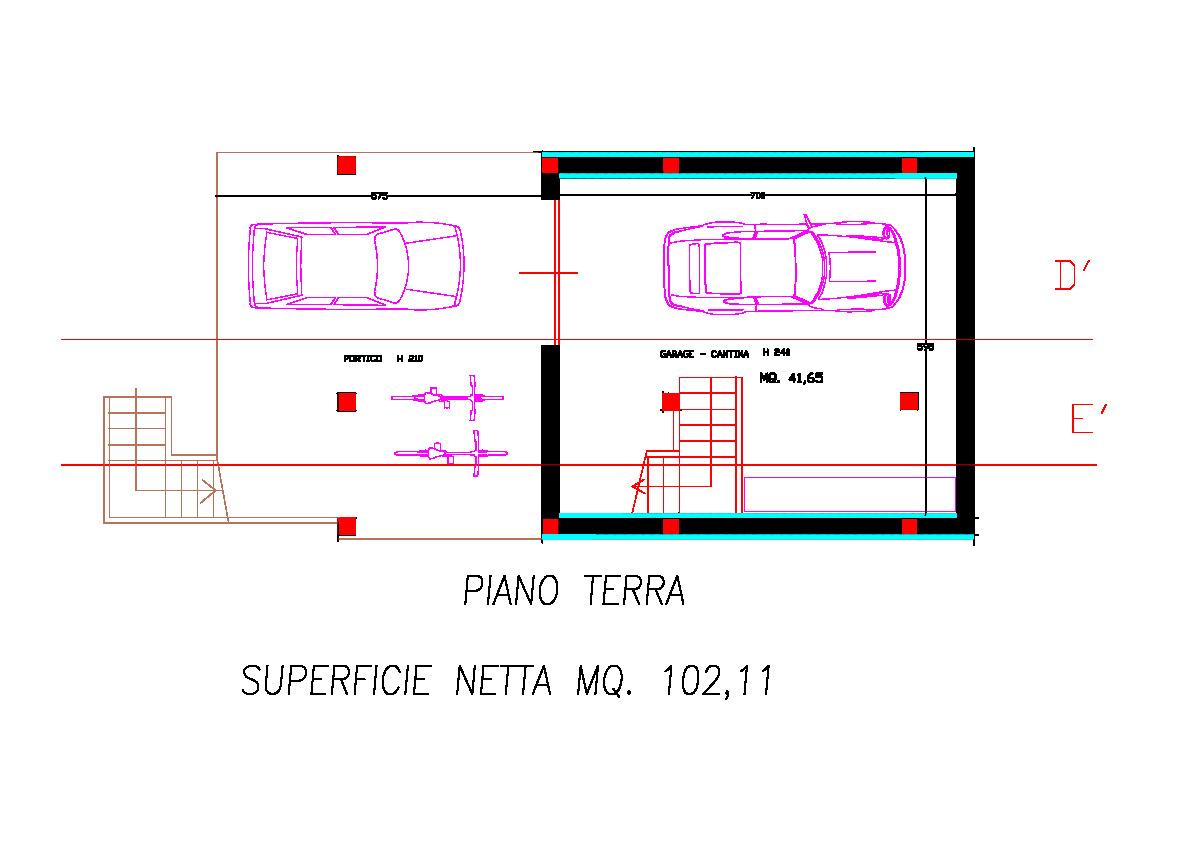 Planimetria 1/4 per rif. 2pt/178