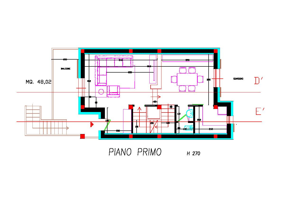 Planimetria 2/4 per rif. 2pt/178
