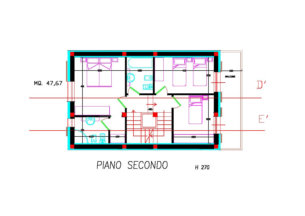 Planimetria 3/4 per rif. 2pt/178