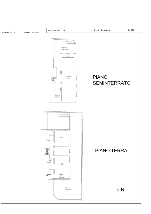 Planimetria 1/1 per rif. 2pt/190