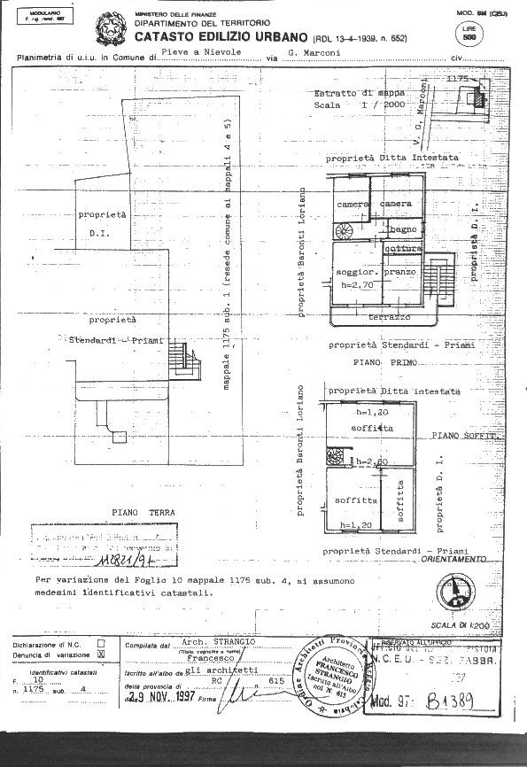 Planimetria 1/1 per rif. 2pt/205