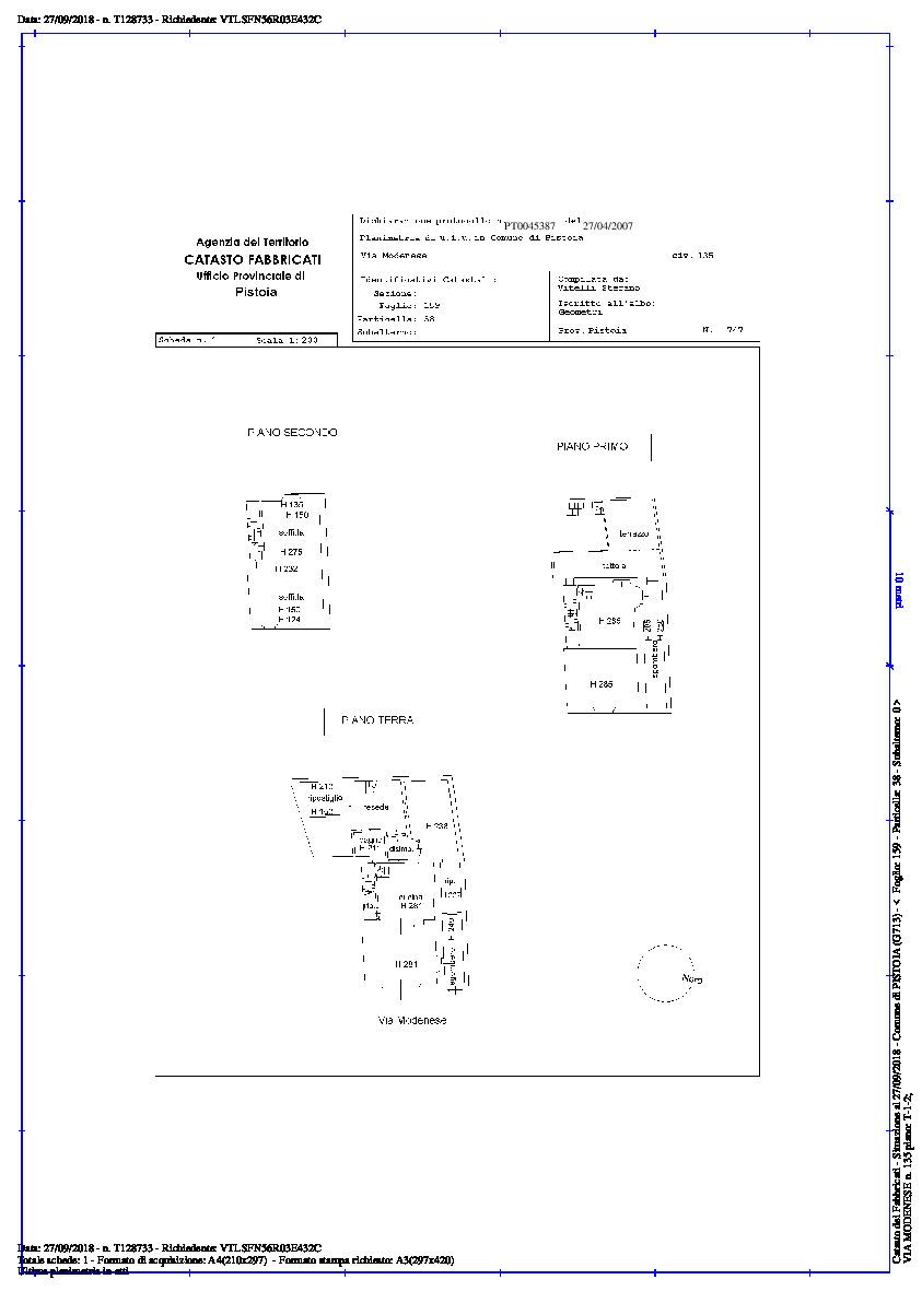Planimetria 1/1 per rif. 2pt/140