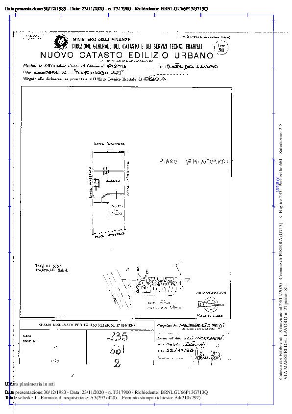 Planimetria 2/2 per rif. 2pt/244