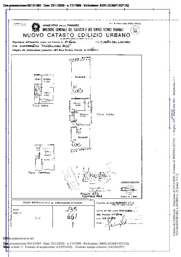 Planimetria 1/2 per rif. 2pt/244